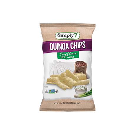 Simply 7 Quinoa Chips Sour Cream & Onion 99g