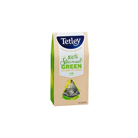 Tetley Steamed Green with Hint of Lemon 18 Pyramid Teabags