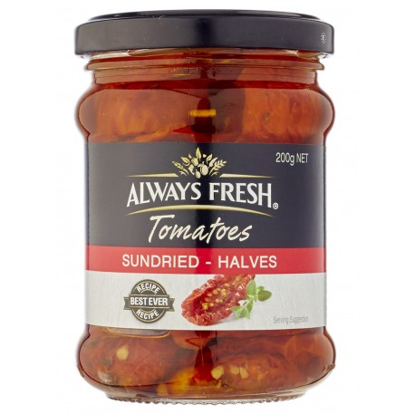 Always Fresh Sundried Tomato Halves 200g