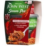 John West Steam Pot Tuna Infusions with Chilli & Garlic 150g