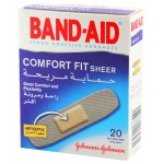 Johnson's Band-Aid Comfort Fit Sheer 50 Assorted Sizes