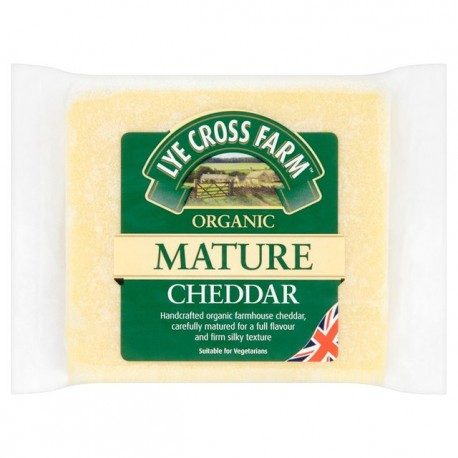 LYE Cross Farm Organic Mature Cheddar 200g