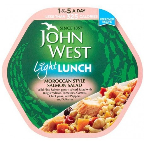 John West Light Lunch Moroccan Style Salmon Salad 220g