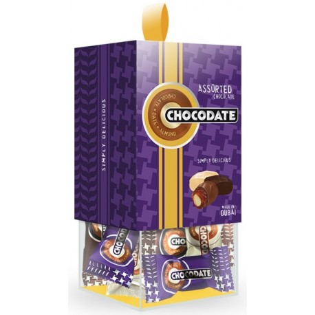 Chocodate Assorted Chocolate Coated Date with Almond 200g