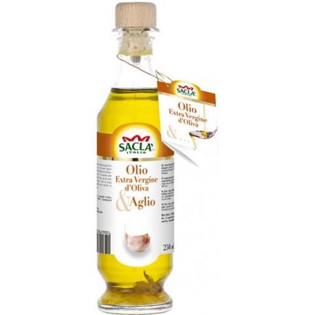 Sacla Extra Virgin Olive Oil Seasoning with Garlic 250ml