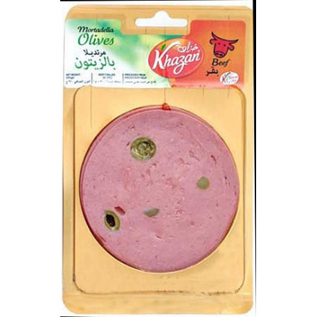 Khazan Mortadella Beef with Olives 250g