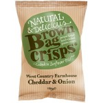 Brown Bag Crisps Cheddar & Onion 40g