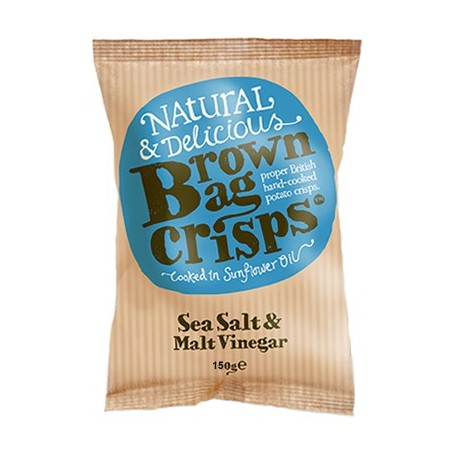 Brown Bag Crisps Sea Salt & Malt Vinegar 150g