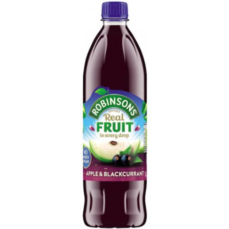 Robinsons Apple & Blackcurrant No Added Sugar 1L