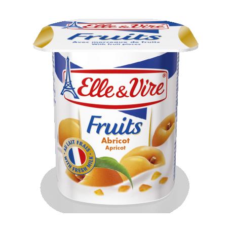 Elle & Vire Apricot Yoghurt with Fruit Pieces 125g