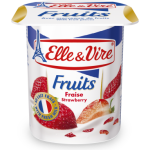 Elle & Vire Strawberry Yoghurt with Fruit Pieces 125g