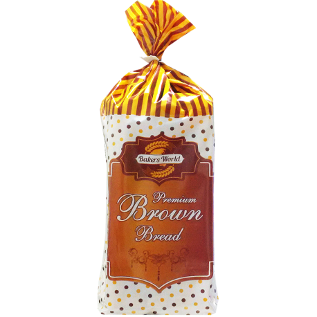 Bakers World Premium Brown Slice Bread Medium 350g