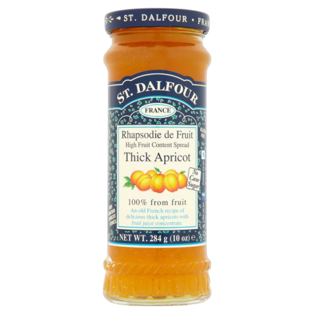 St. Dalfour Thick Apricot Jam No Added Sugar 284g