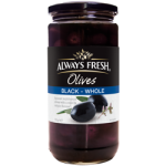 Always Fresh Spanish Black Whole Olives 450g