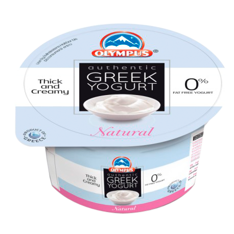 Olympus Authentic Greek Strained Yogurt Natural 0% Fat 150g