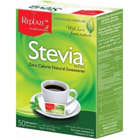 Replaze Stevia Zero Calorie Sweetener 50 Minipacks