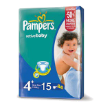 Pampers ActiveBaby4+, 9-16kg, 15 Diapers