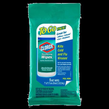 Clorox To Go 9 Wet Wipes