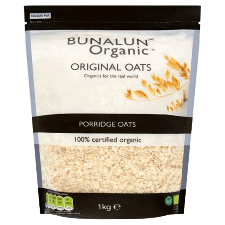 Bunalun Organic Original Porridge Oats 1kg
