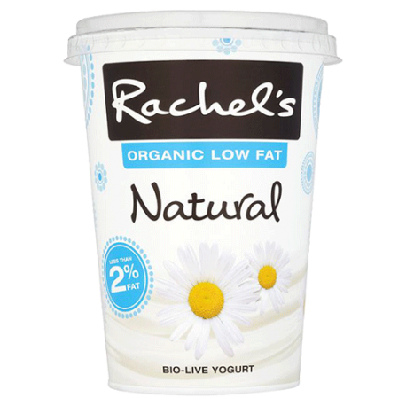 Rachel's Organic Low Fat Natural Bio-Live Yogurt 450g