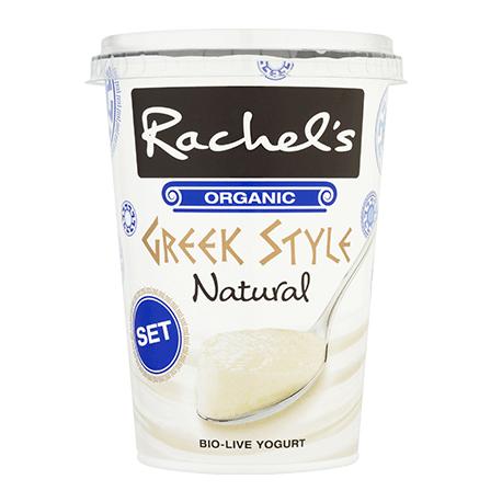 Rachel's Organic Set Greek Style Natural Yogurt 450g