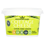 Kingdom Dairy Low Fat Cottage Cheese with Chives & Onion 227g